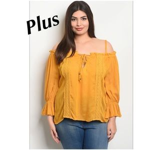 Tops - 5 for $100 Plus➕Mustard Blouse